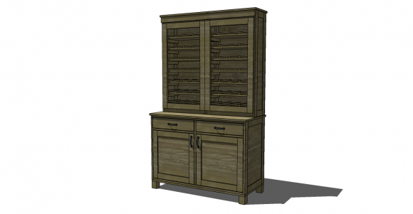 Free DIY Furniture Plans to Build a PB Inspired Clara Hutch - The ...