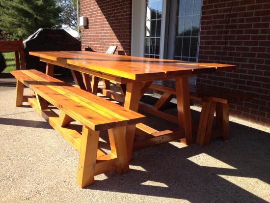 Reader Showcase Bob S Provence 4x4 Table With Benches