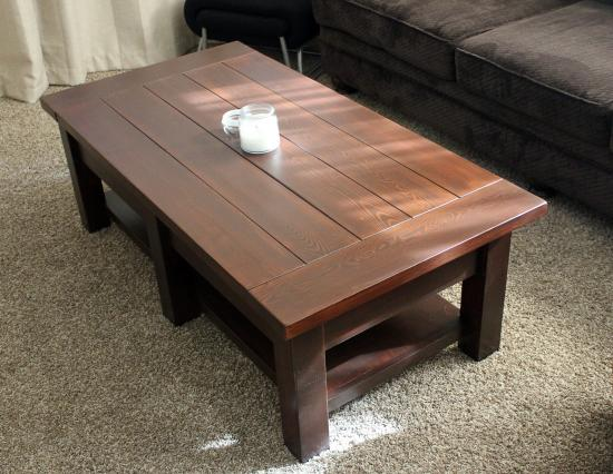 Readers showcase johns benchwright coffee table the for Showcase coffee table