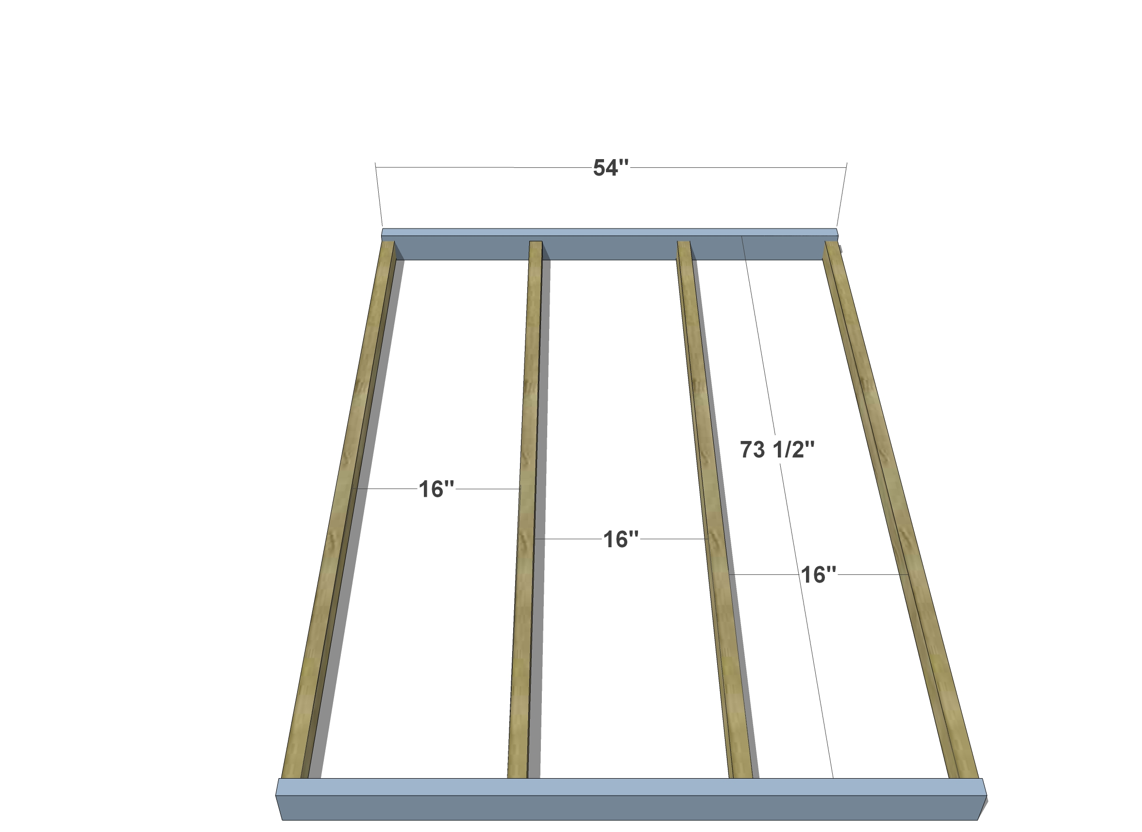 DIY Furniture Plans // How to Build a Full Sized House Bed - The ...