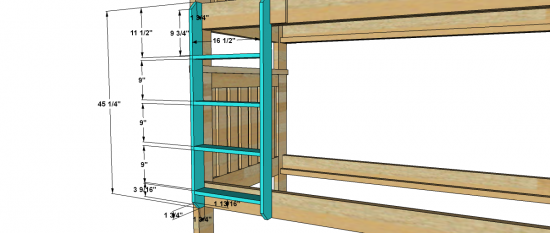 The Design Confidential Free DIY Furniture Plans to Build a Kenwood Bunk Bed