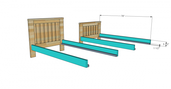 You Can Build This! The Design Confidential's Free Woodworking Plans to Build an RH Inspired Kenwood Twin Over Full Bunk