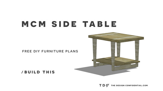 Free Diy Furniture Plans How To Build A Mid Century Modern Side