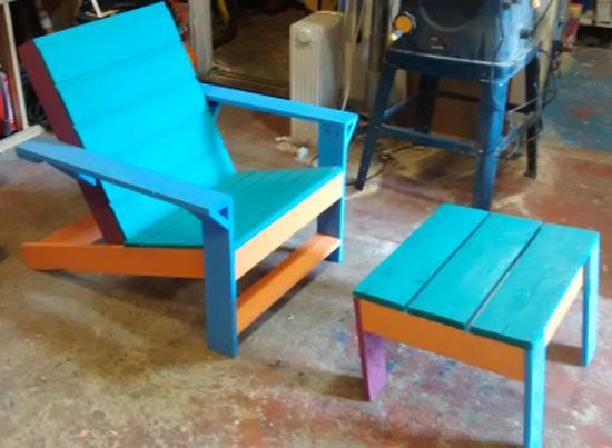 Builders Showcase Outdoor Modern Adirondack Chair