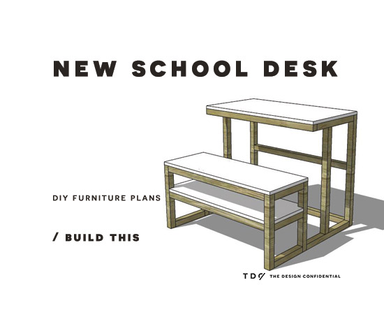 You Can Build This! Easy DIY Plans from The Design Confidential Free DIY Furniture Plans // How to Build a New School Desk via @thedesconf