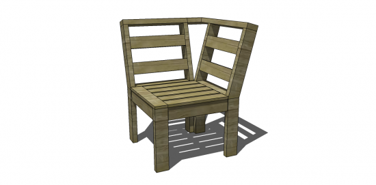 Free DIY Furniture Plans To Build An Outdoor Corner Unit   The Design  Confidential