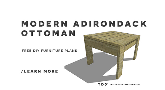 Free Diy Furniture Plans How To Build A Modern Adirondack Ottoman The Design