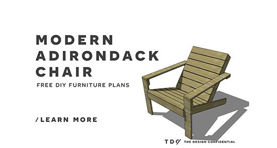 Merveilleux I Know You Guys Are Going To Be Excited For This Beauty! Today We Have  Gorgeous New Free DIY Furniture Plans To Build An Outdoor Modern Adirondack  Chair!
