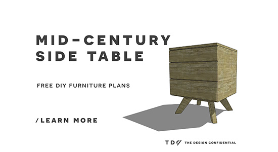 Free DIY Furniture Plans // How To Build A Mid Century Modern Side Table    The Design Confidential