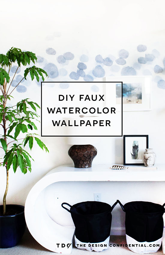 Diy Faux Watercolor Wallpaper Wall Treatment With Paint