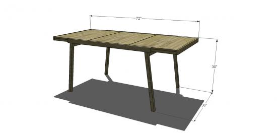 Free DIY Furniture Plans To Build A CB Inspired Expandable Pocket - Cb2 expandable dining table