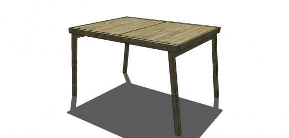 Stunning Free DIY Furniture Plans to Build a CB Inspired Expandable Pocket Dining Table The Design Confidential