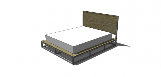 Good Free DIY Furniture Plans to Build a Copenhagen Queen Sized Bed The Design Confidential