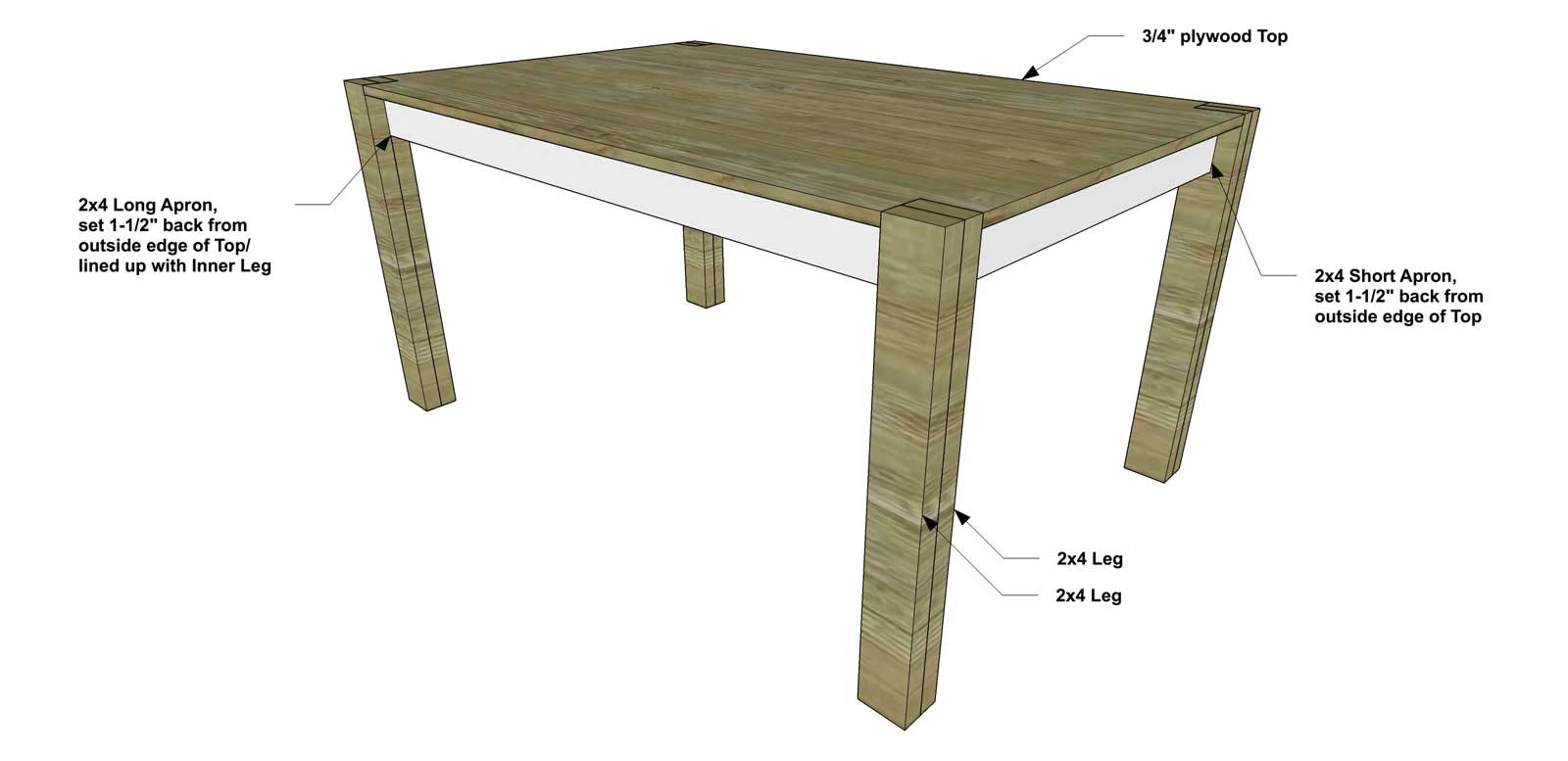Free Diy Furniture Plans How To Build A 60 Inch