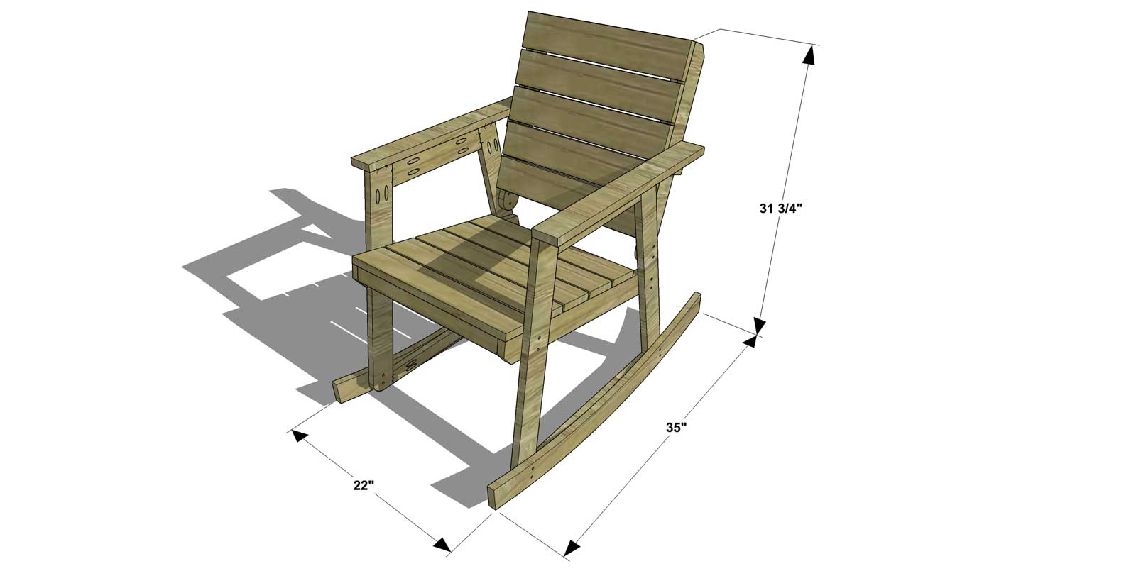 Free DIY Furniture Plans // How to Build a Rocking Chair - The Design ...