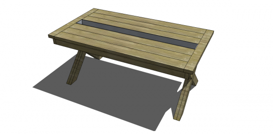 Free DIY Furniture Plans To Build A Rustic Outdoor Table With Built In  Drink Cooler   The Design Confidential Part 29
