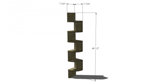 Free Diy Furniture Plans To Build An Ivan Corner Shelf The Design