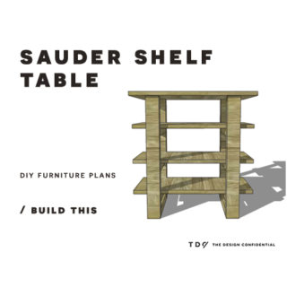 You Can Build This! Easy DIY Furniture Plans from The Design Confidential with Complete Instructions on How to Build a Sauder Shelf Table via @thedesconf