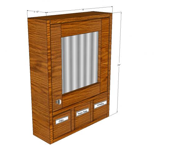 Free DIY Furniture Plans to Build a 3 Drawer Medicine Cabinet ...