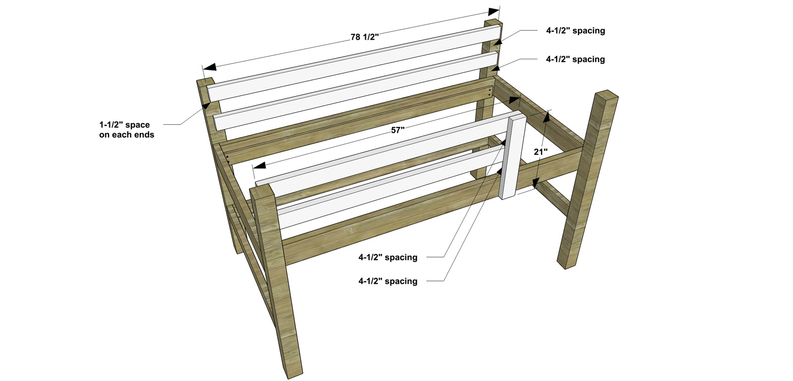 Nice Free DIY Furniture Plans How to Build a Twin Sized Low Loft Bunk with Roll Out Desk Bookshelf The Design Confidential