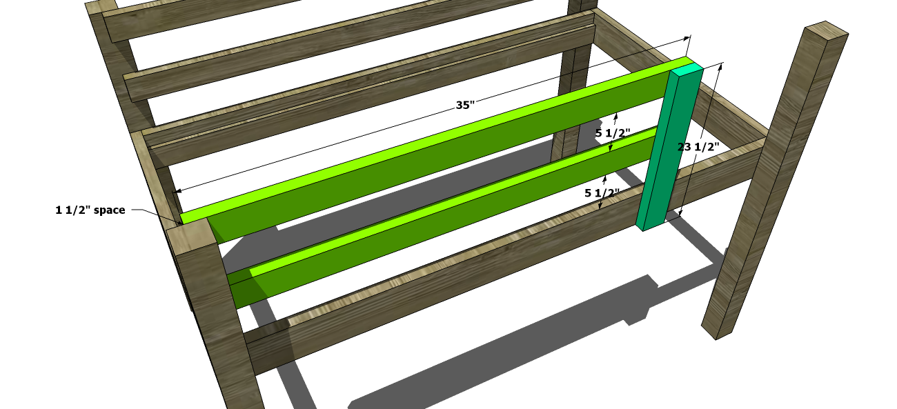 The Design Confidential Free DIY Furniture Plans to Build a Toddler Sized Low Loft Bunk