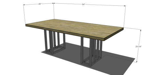 You Can Build This! Easy DIY Furniture Plans from The Design Confidential with Complete Instructions on How to Build a Verti Dining Table via @thedesconf