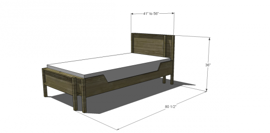 Free Diy Furniture Plans To Build An Adjustable Twin To Full Bed