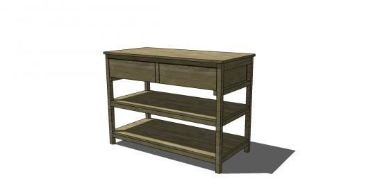 free diy furniture plans to build a jocelyn console table. Black Bedroom Furniture Sets. Home Design Ideas