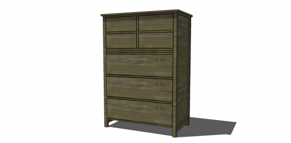 The Design Confidential Free DIY Furniture Plans to Build a PB Inspired Farmhouse Tallboy Dresser