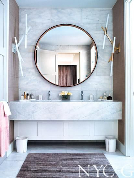Bathe Well Rounded Mirrors In The Bath The Design Confidential