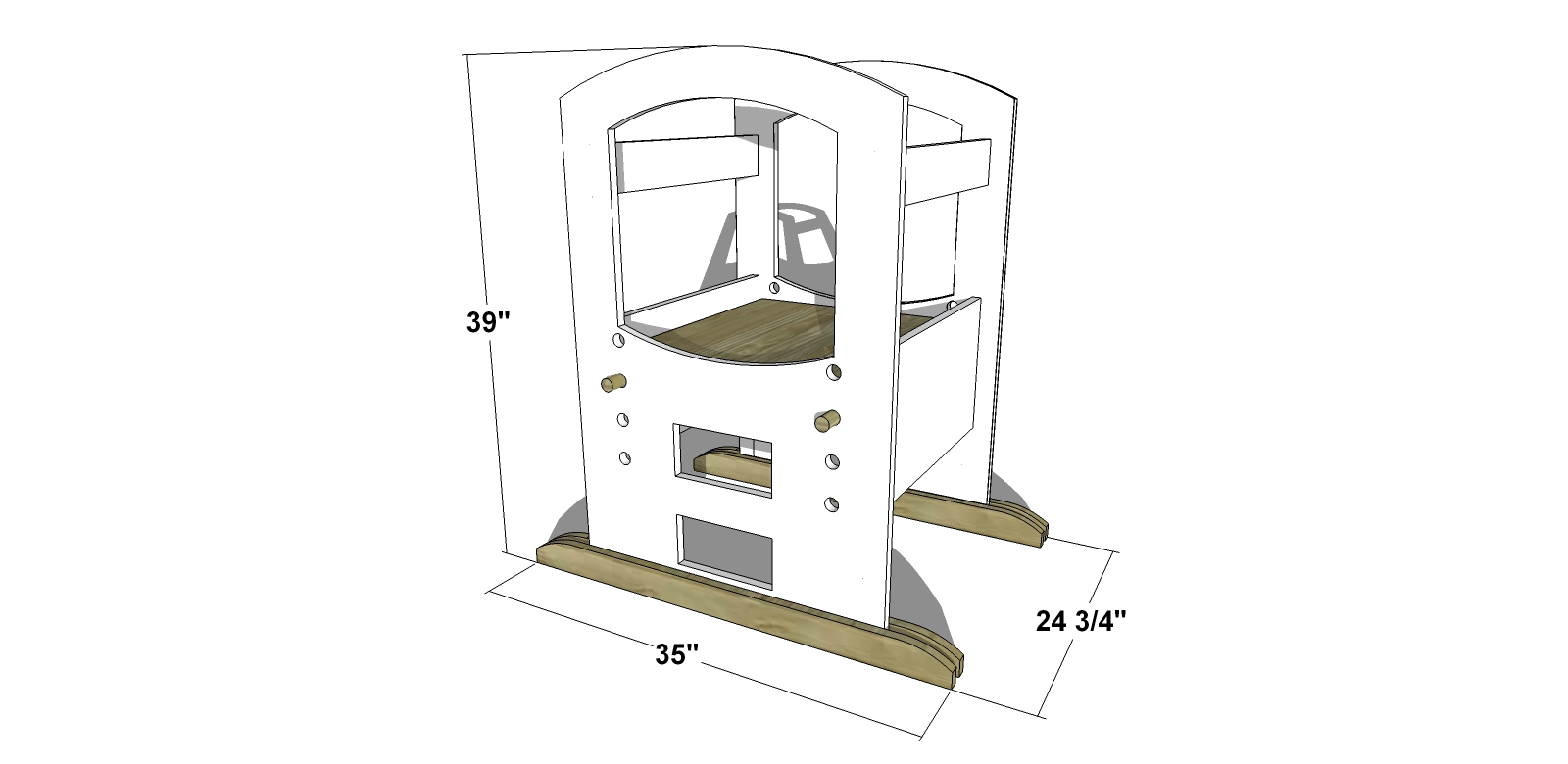 You Can Build This! The Design Confidential Free Woodworking Plans to Build a Toddler Learning Tower