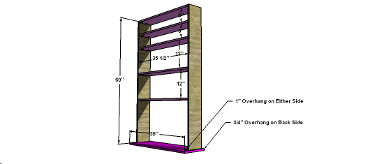 Free Woodworking Plans To Build A Simple Craft Space Bookshelf