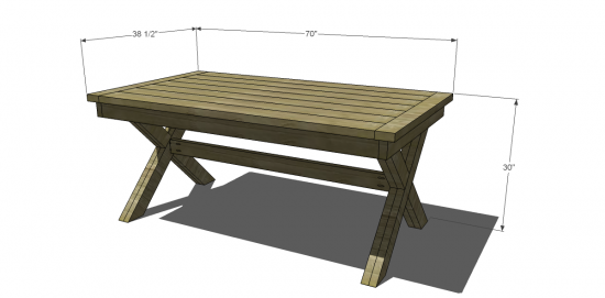 The Design Confidential Free DIY Furniture Plans To Build An Outdoor  Toscana Table