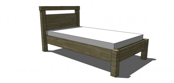 Superb Free DIY Furniture Plans to Build a Land of Nod Oak Park Elementary Inspired Twin Bed The Design Confidential