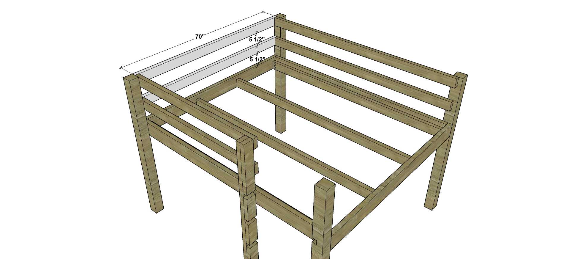 Awesome Attach the Upper Head Rails on the side opposite where you choose to put the ladder in my example this would be the left side