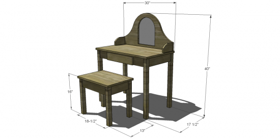 Free Diy Furniture Plans To Build A Land Of Nod Inspired Debutante