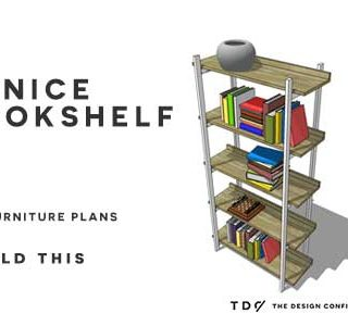 You Can Build This! Easy DIY Furniture Plans from The Design Confidential with Complete Instructions on How to Build a Venice Bookshelf via @thedesconf