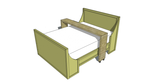 free woodworking plans to build a queen rolling bed board table the design
