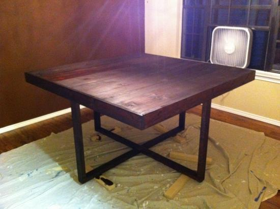 My Square Modified Cross Frame Dining Table The Design