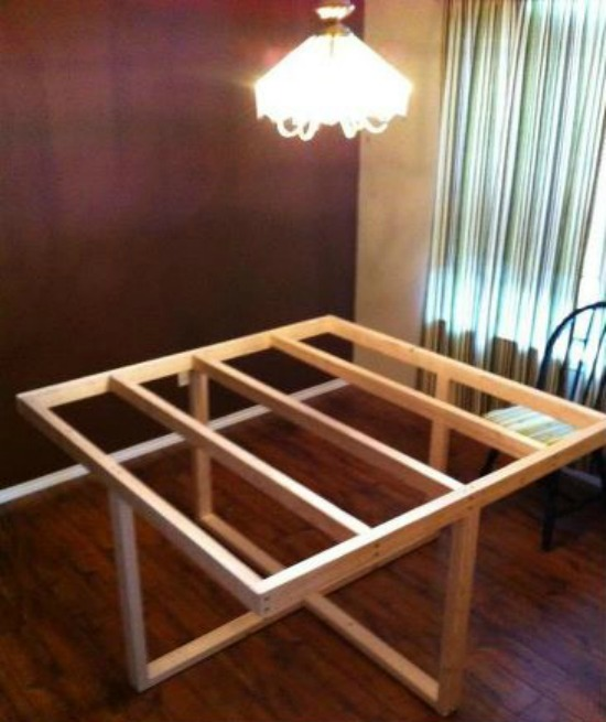 My Square Modified Cross Frame Dining Table